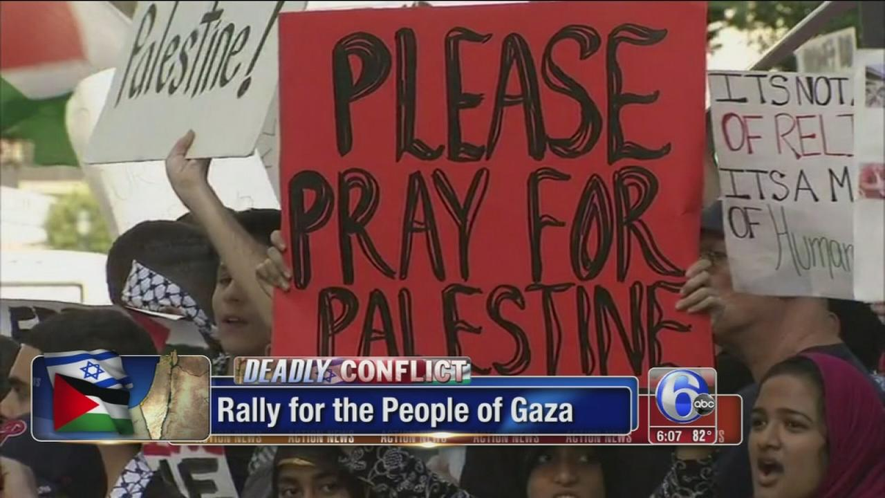 VIDEO: Center City rally for the people of Gaza