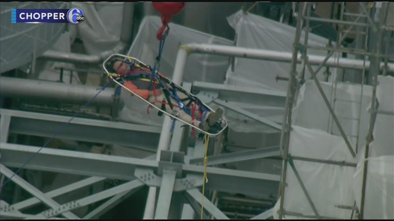 Man rescued from 80 feet above ground