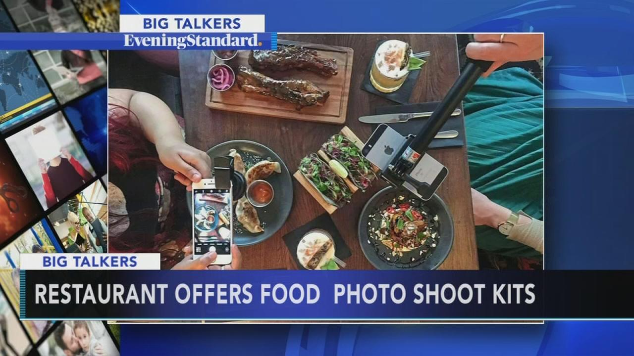 Restaurant offering food photo shoot kits with meals