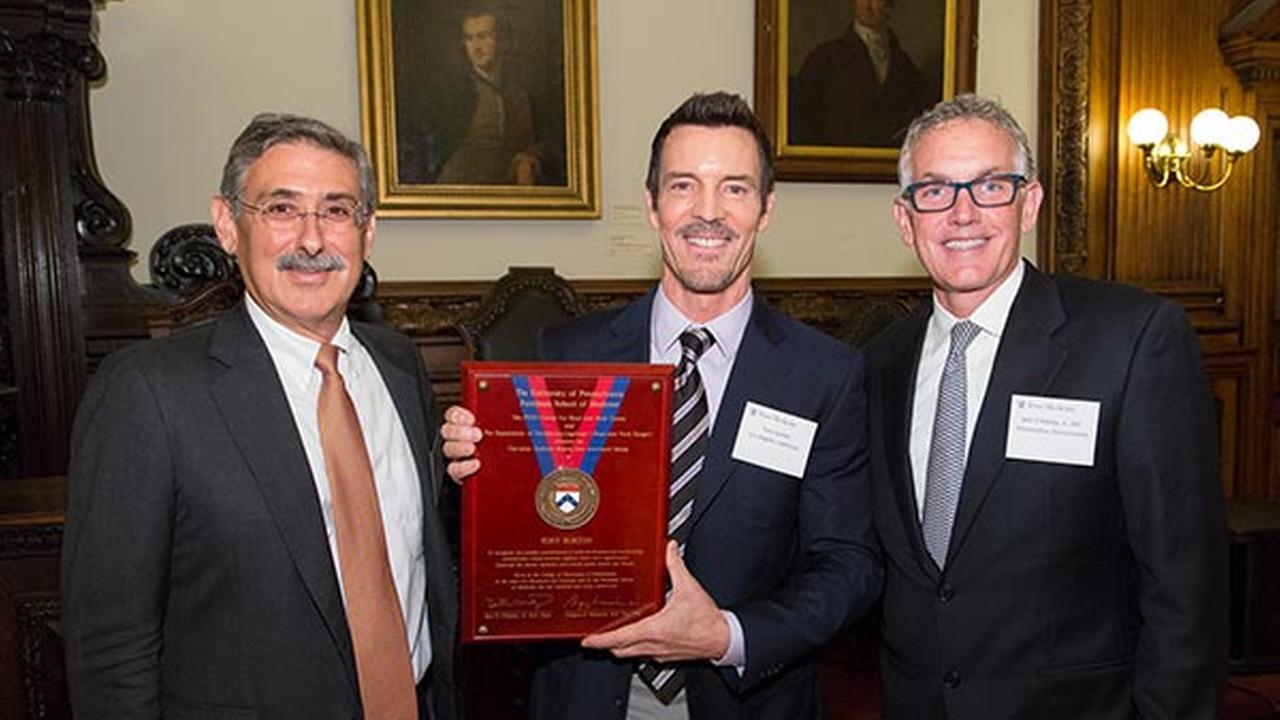 Tony Horton with Dr Bert OMalley, Jr. and Dr. Gregory Weinstein of Penn Medicine.