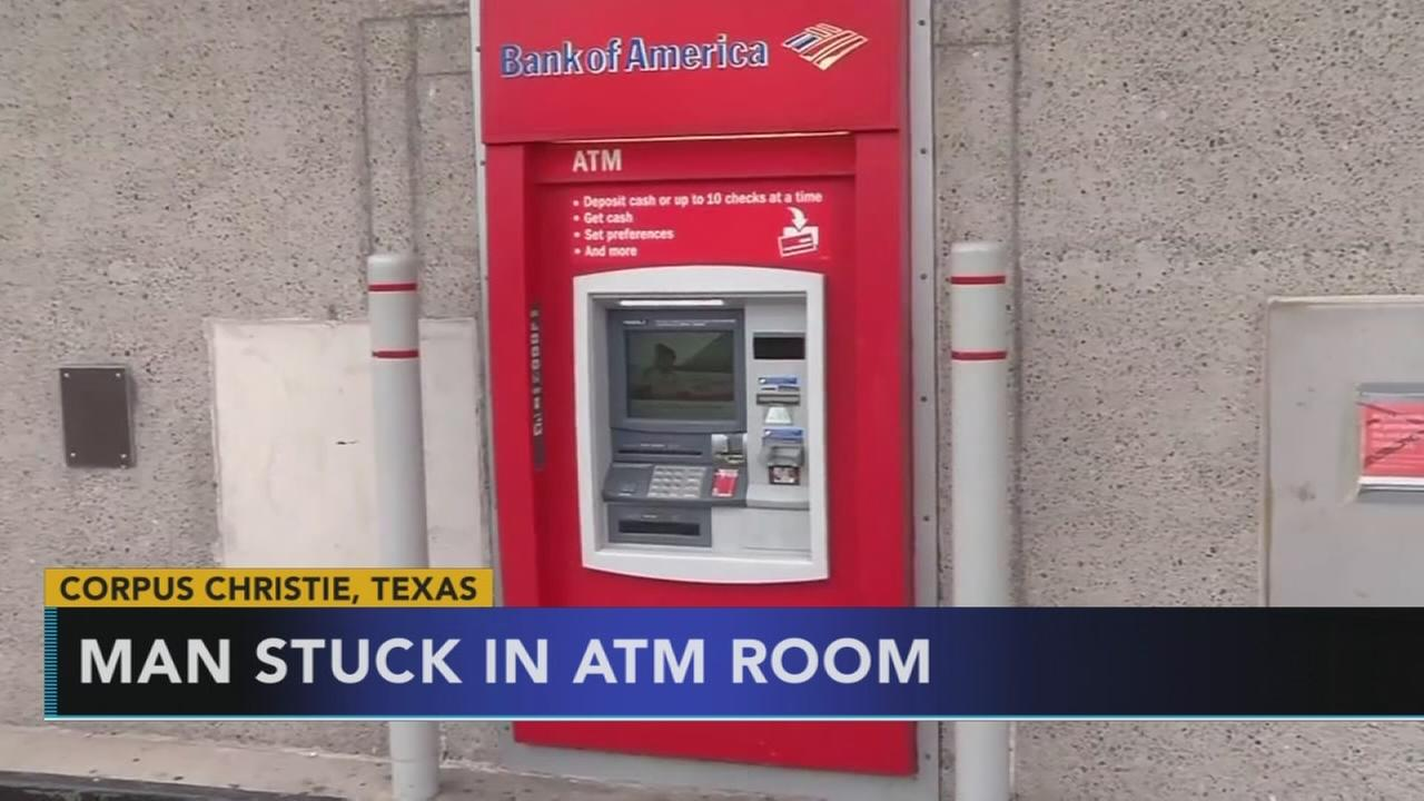 Man stuck inside ATM