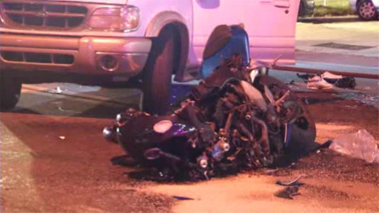 1 injured after motorcycle and SUV collide in Wilmington