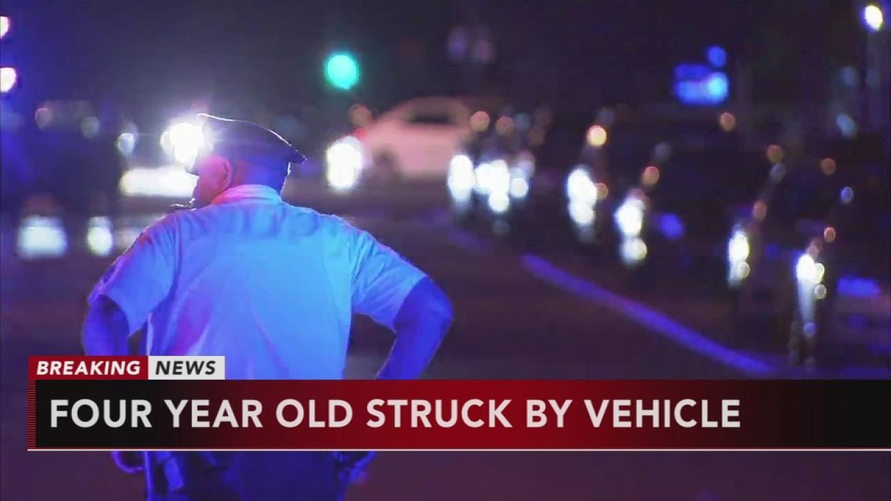 4-year-old child struck by vehicle in Mayfair