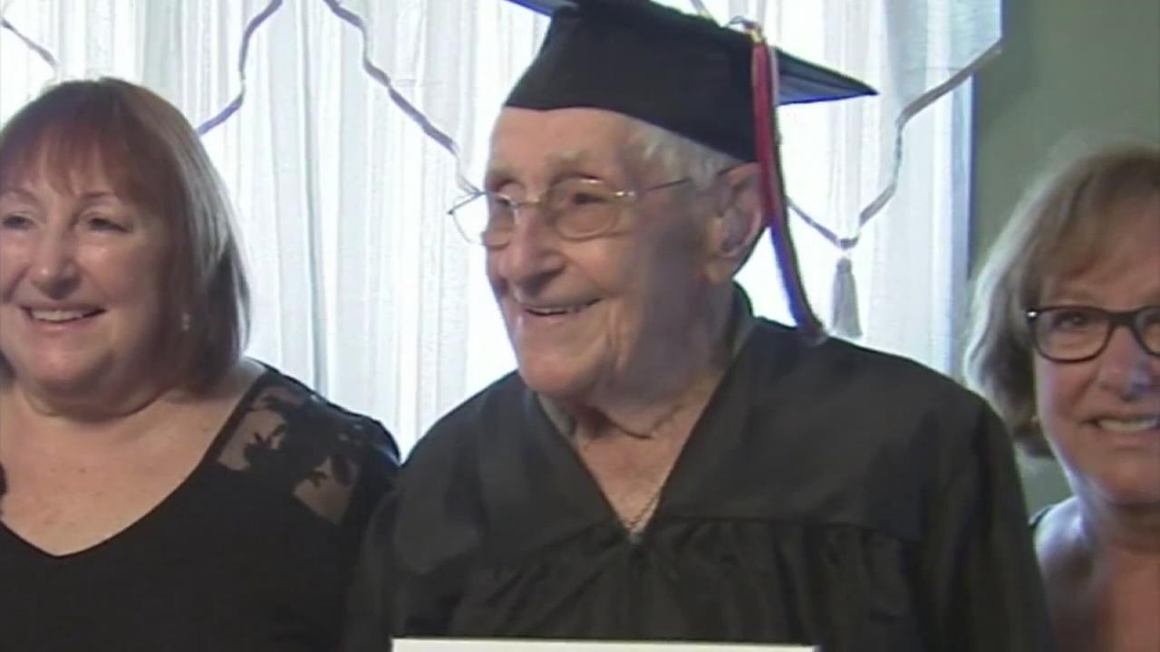 97-year-old war veteran finally gets high school diploma