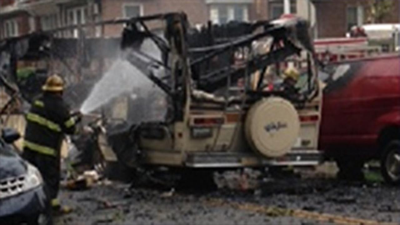 Police investigate explosion inside RV in Northeast Philadelphia