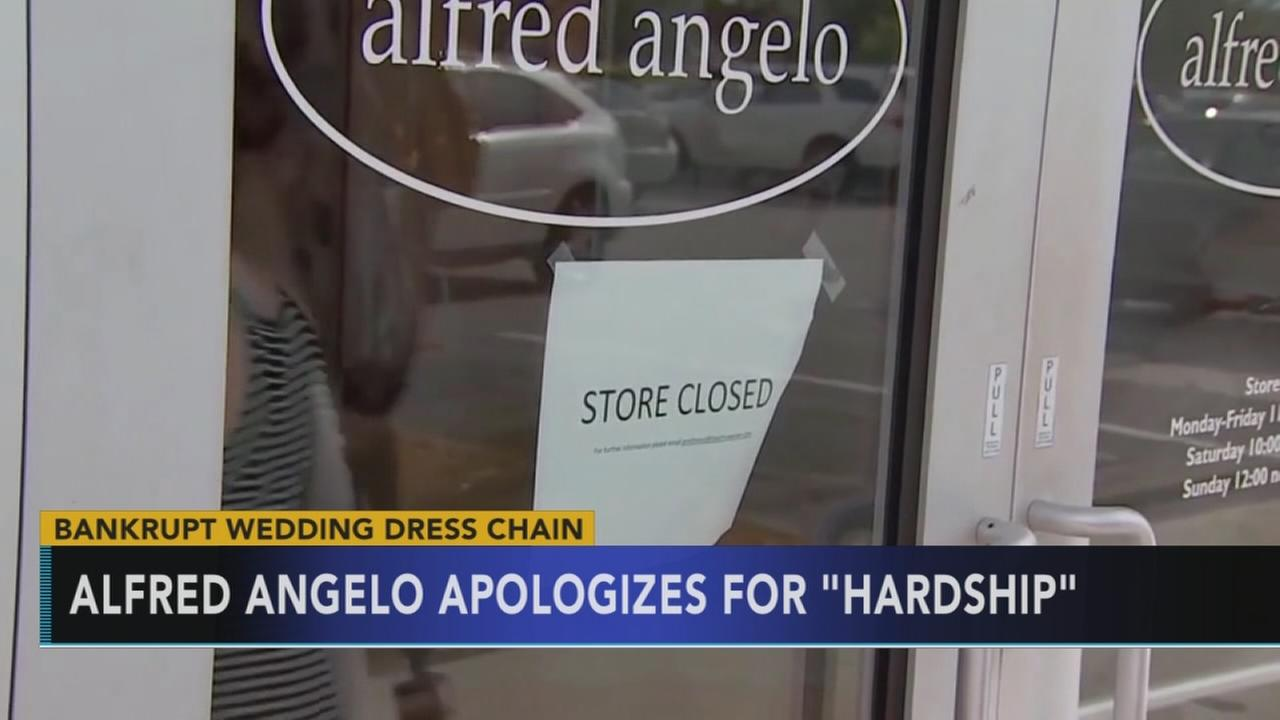 Alfred Angelo apologizes for sudden bridal shop closures