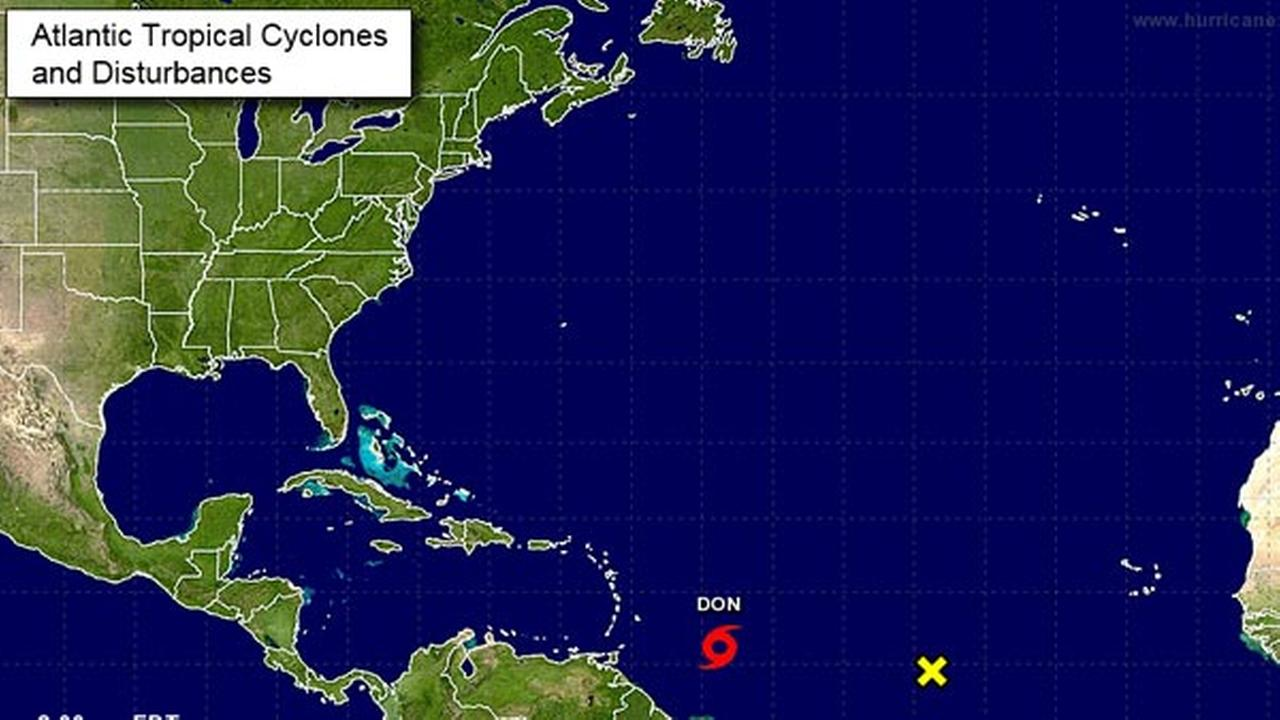 Not a tweet storm, but Tropical Storm Don