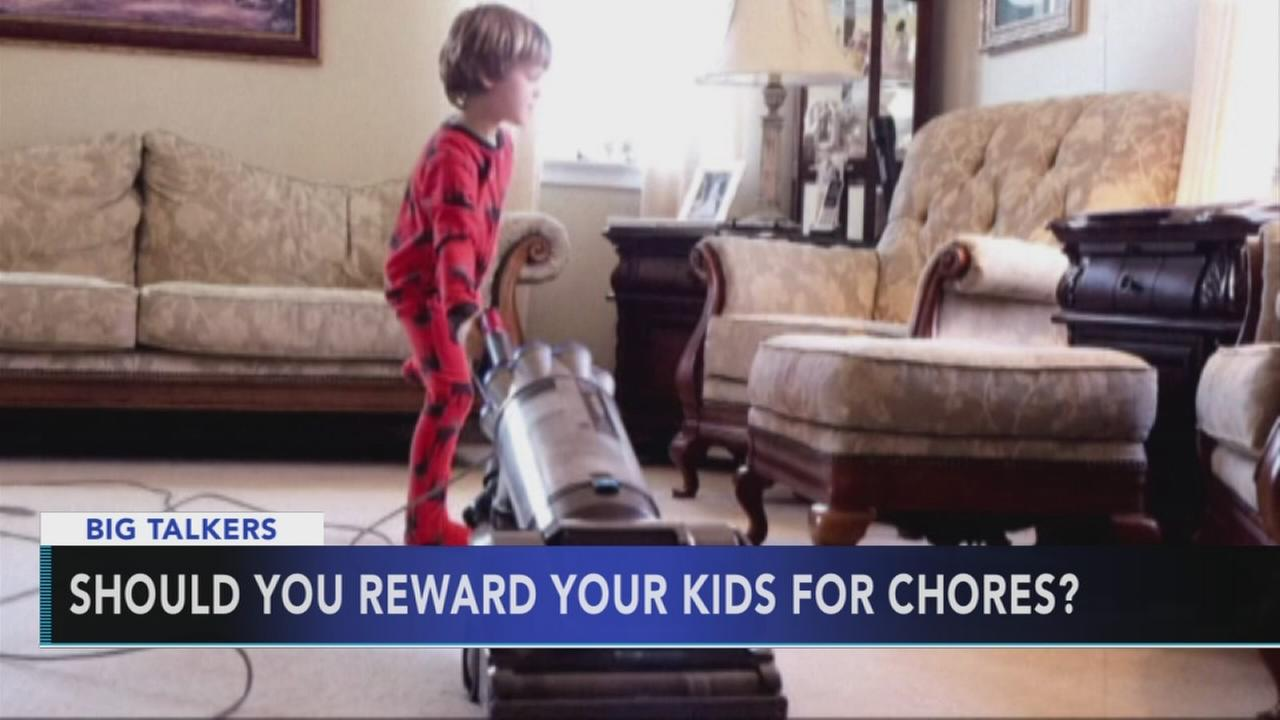 Should kids be rewarded for doing their chores?