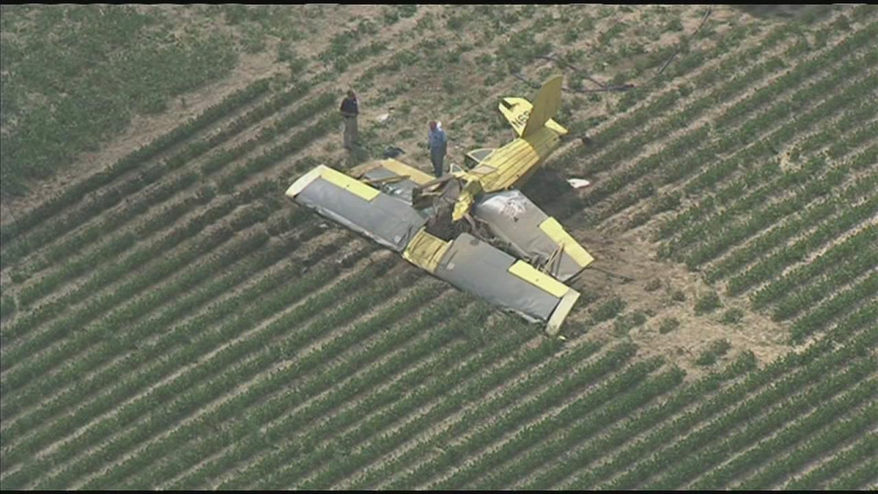 Crop duster crashes in Delaware