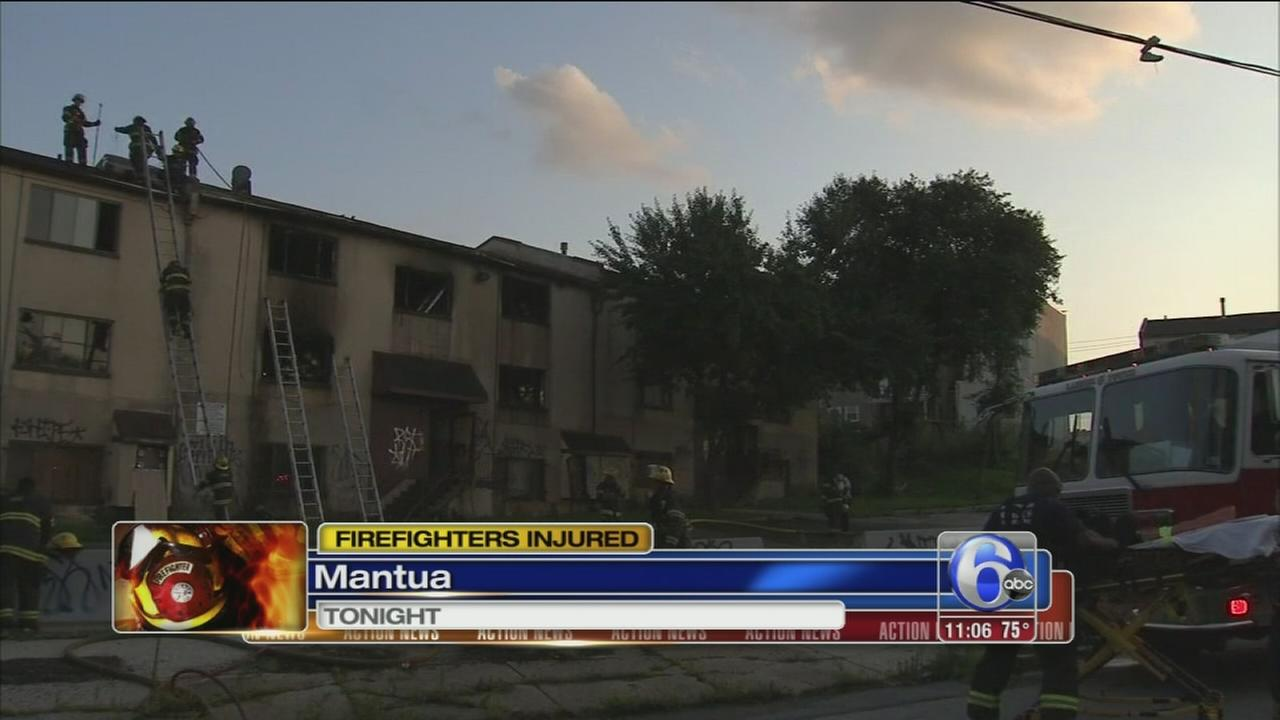VIDEO: Firefighters hurt in Mantua