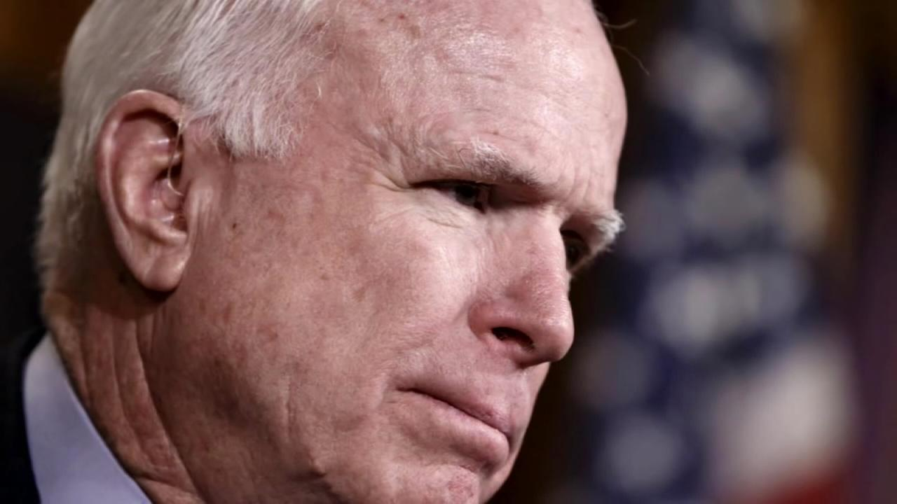Sen. McCain diagnosed with brain tumor after clot is removed
