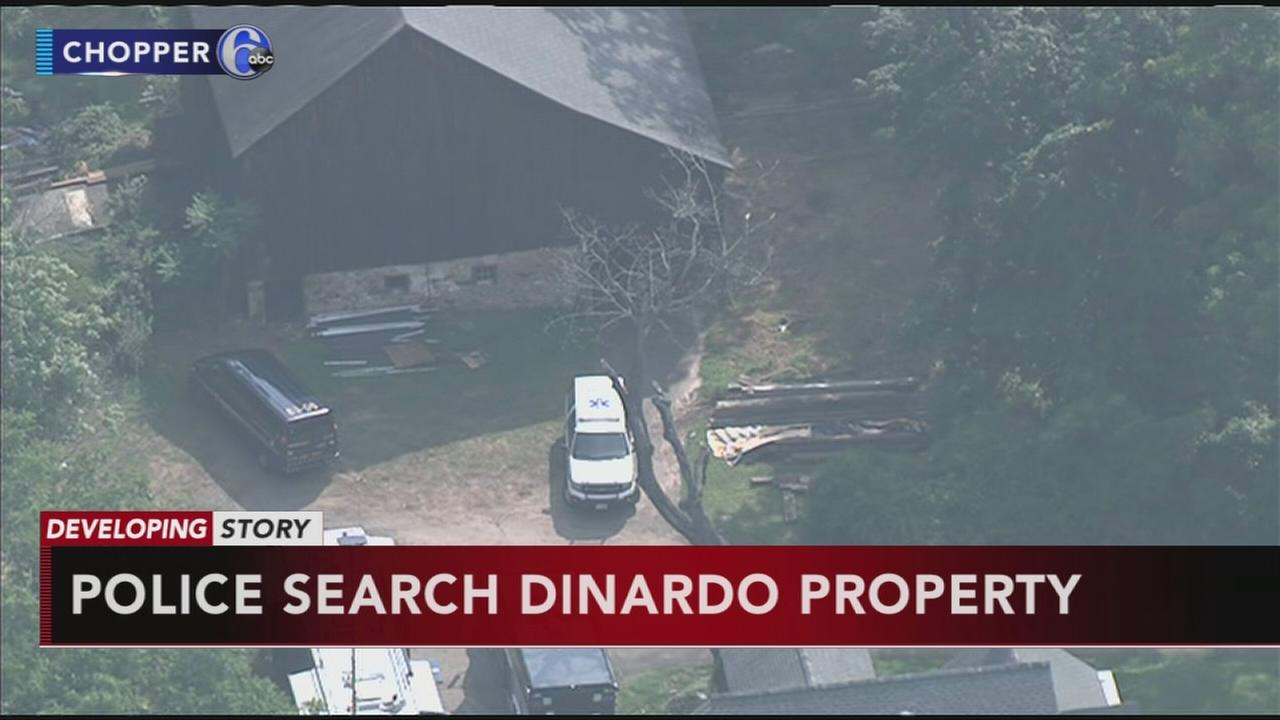 Police back at DiNardo property