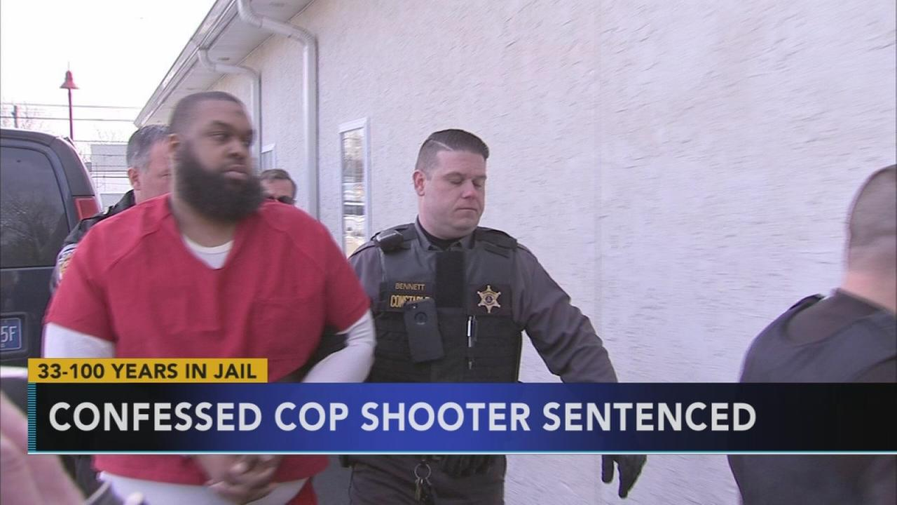 Confessed cop shooter sentenced