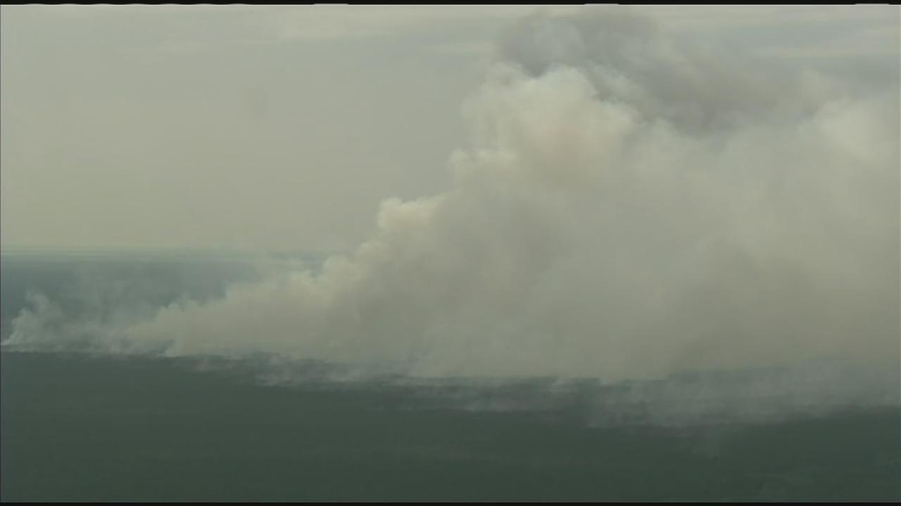 VIDEO: New Jersey Wildfire