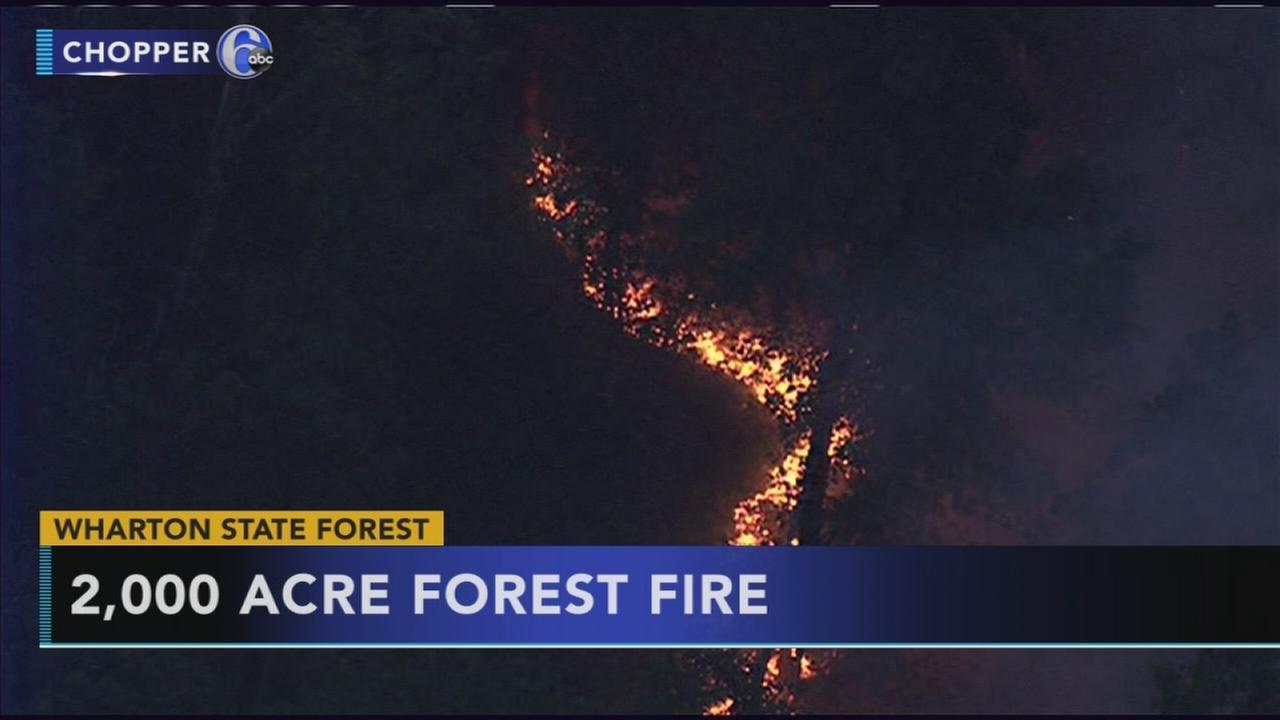 Forest firein  Burlington Co