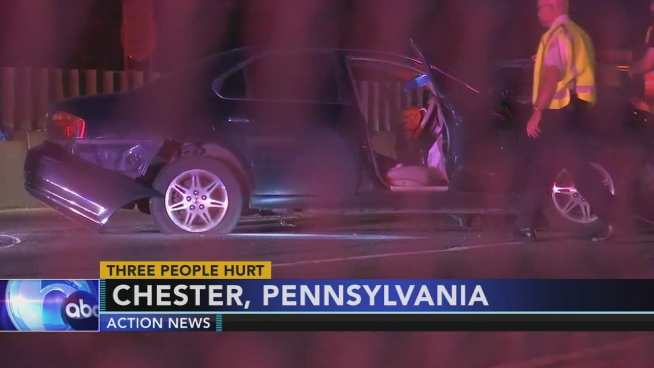 3 hurt in Chester crash