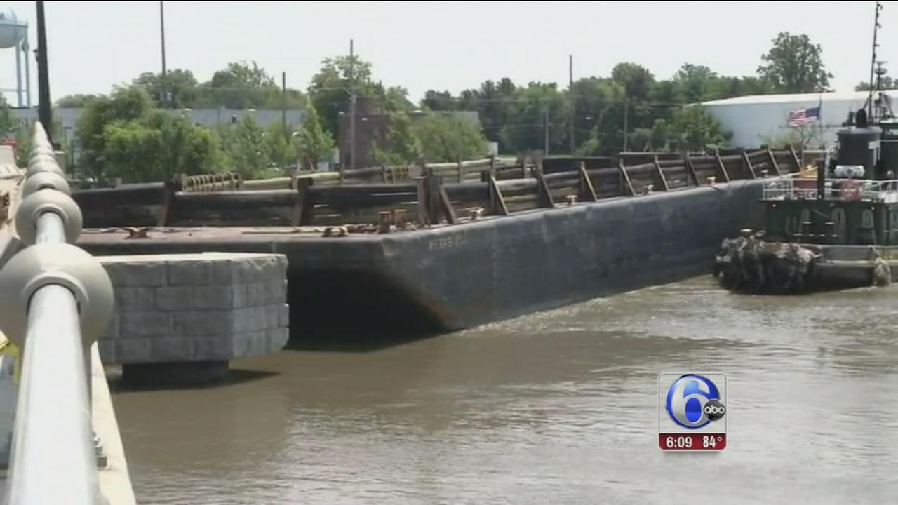 VIDEO: Bridge reopens after getting rammed by runaway barge
