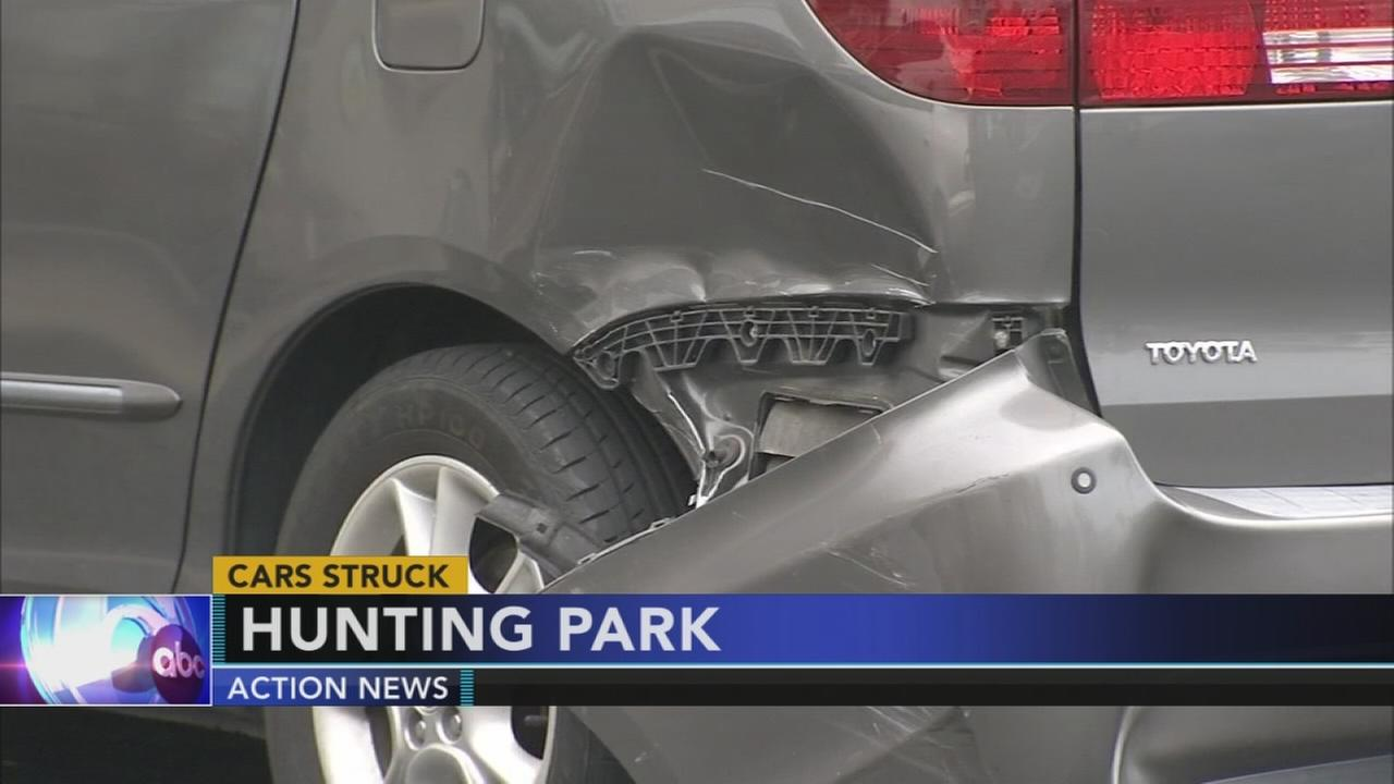 Out of control drivers causes major damage in Hunting Park