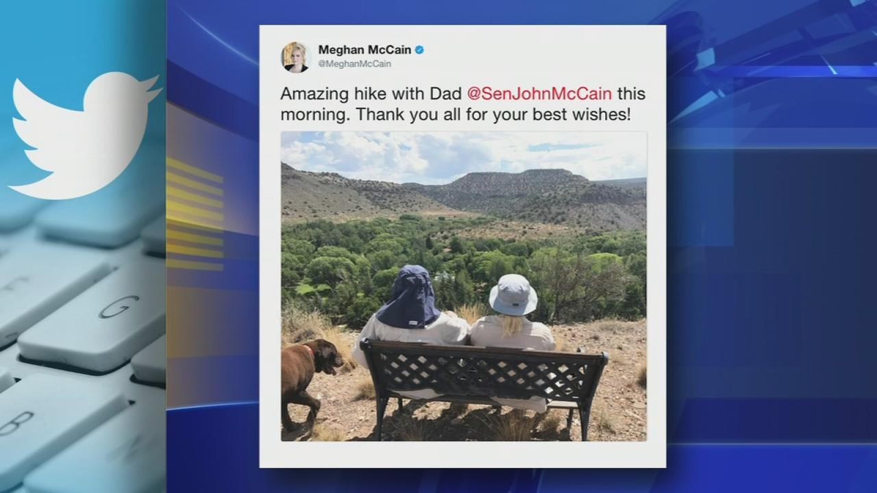 Senator John McCain enjoys time with daughter after being diagnosed with brain cancer