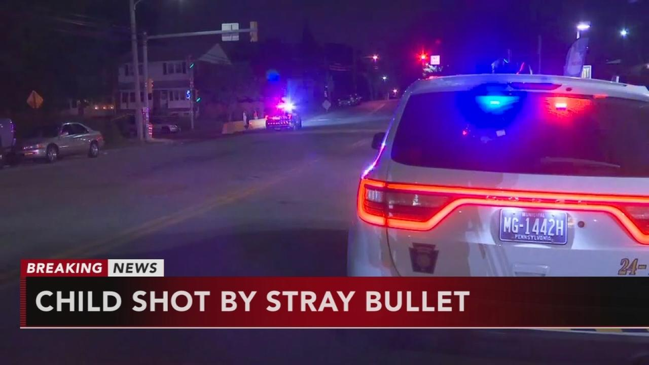 Child struck by stray bullet in Chester