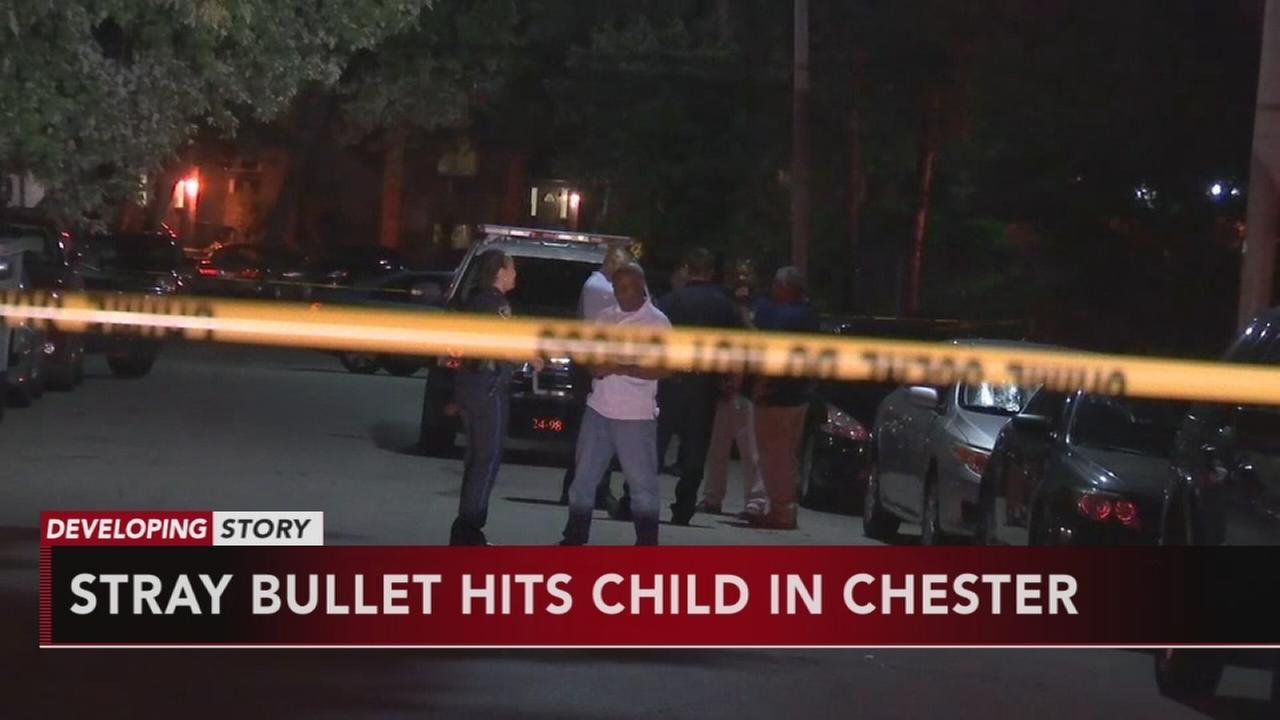 VIDEO: Stray bullet hits child in Chester