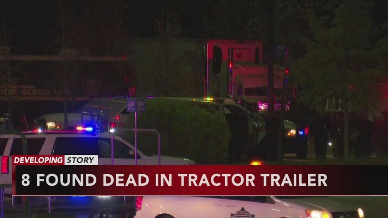 VIDEO: 8 dead in tractor trailer