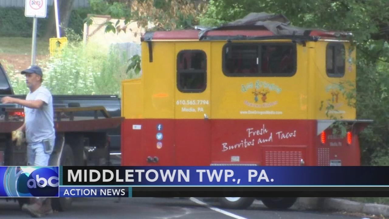 Taco truck involved in Delco crash