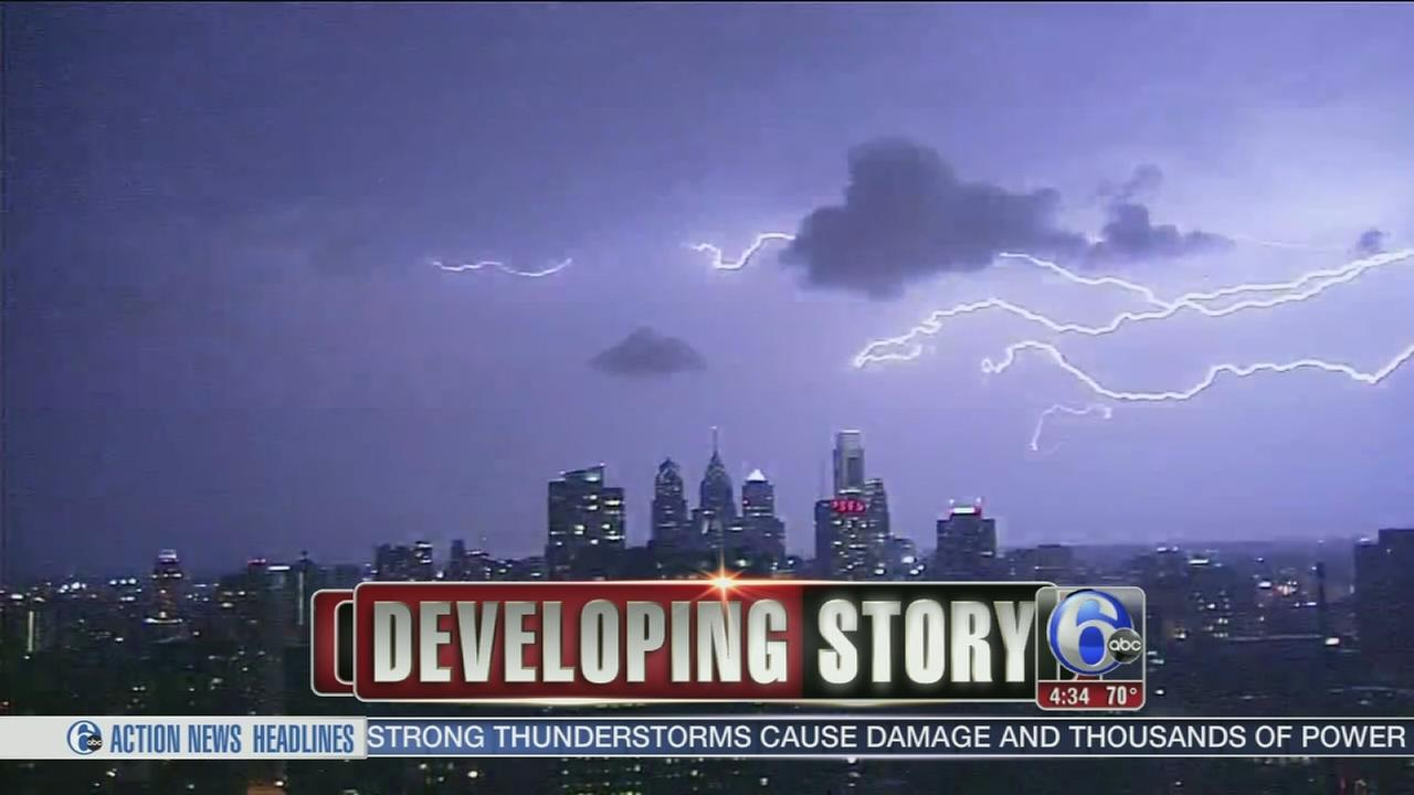 VIDEO: Storms cause damage across the region