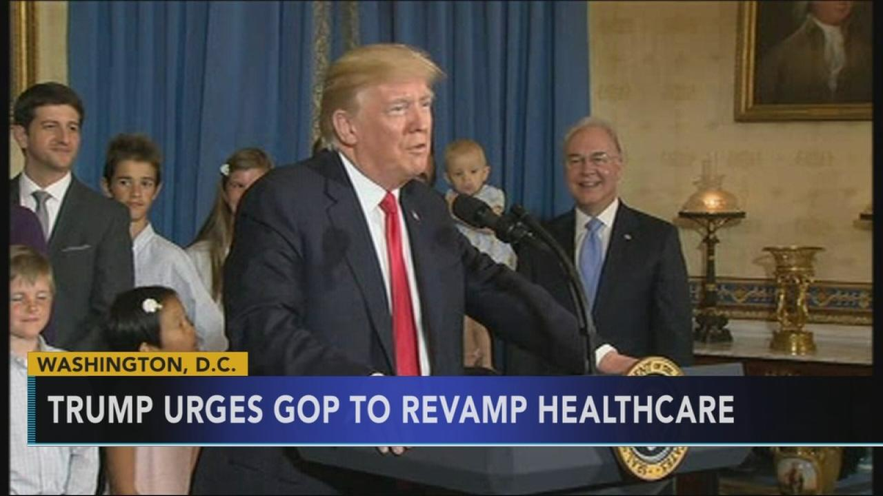Trump says upcoming health vote is GOPs chance to keep vow