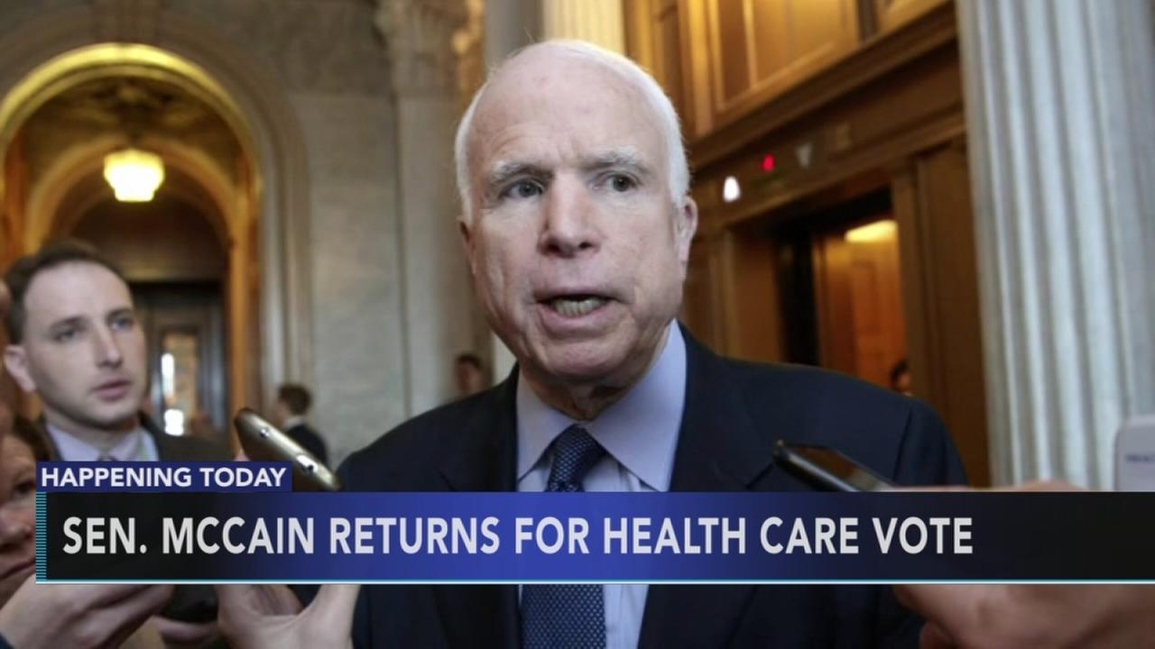 McCain returns for ACA vote