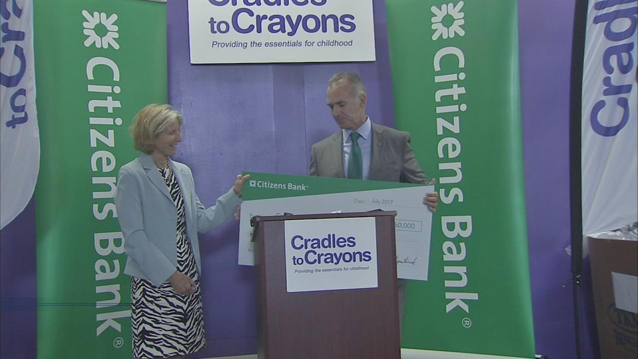 Cradles to Crayons donation