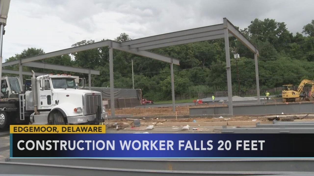 Worker falls at construction site in Edgemoor, Del.