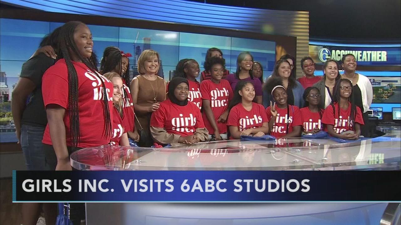 Girls Inc. visits 6abc studios