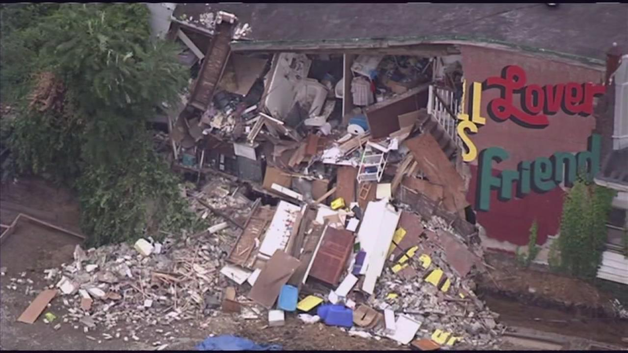 2 rescued from house collapse in West Philadelphia