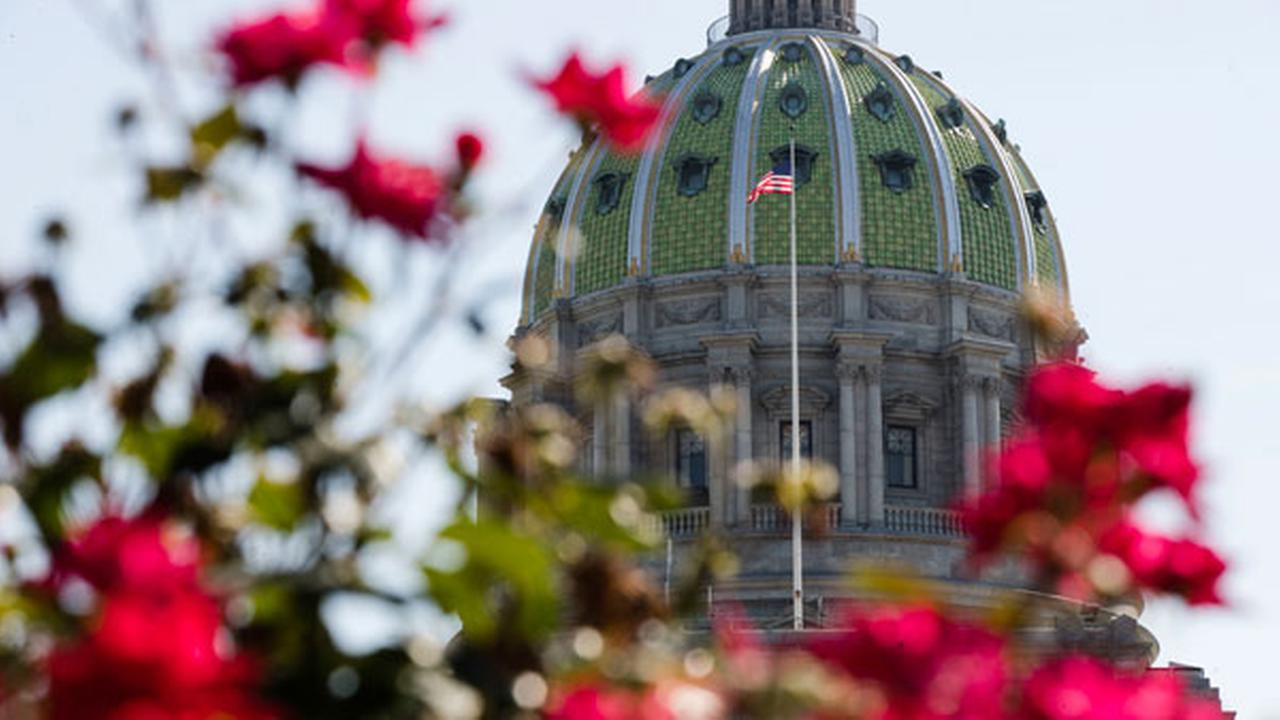 The Pennsylvania Capitol building is seen in Harrisburg, Pa., Monday, July 10, 2017.