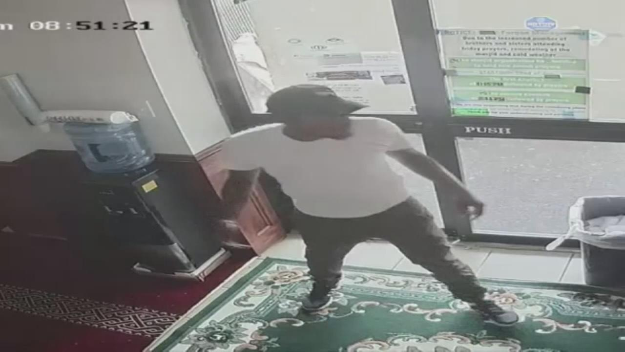 Surveillance of suspect in mosque burglary