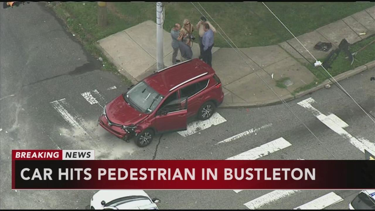 Car hits pedestrian in Bustleton