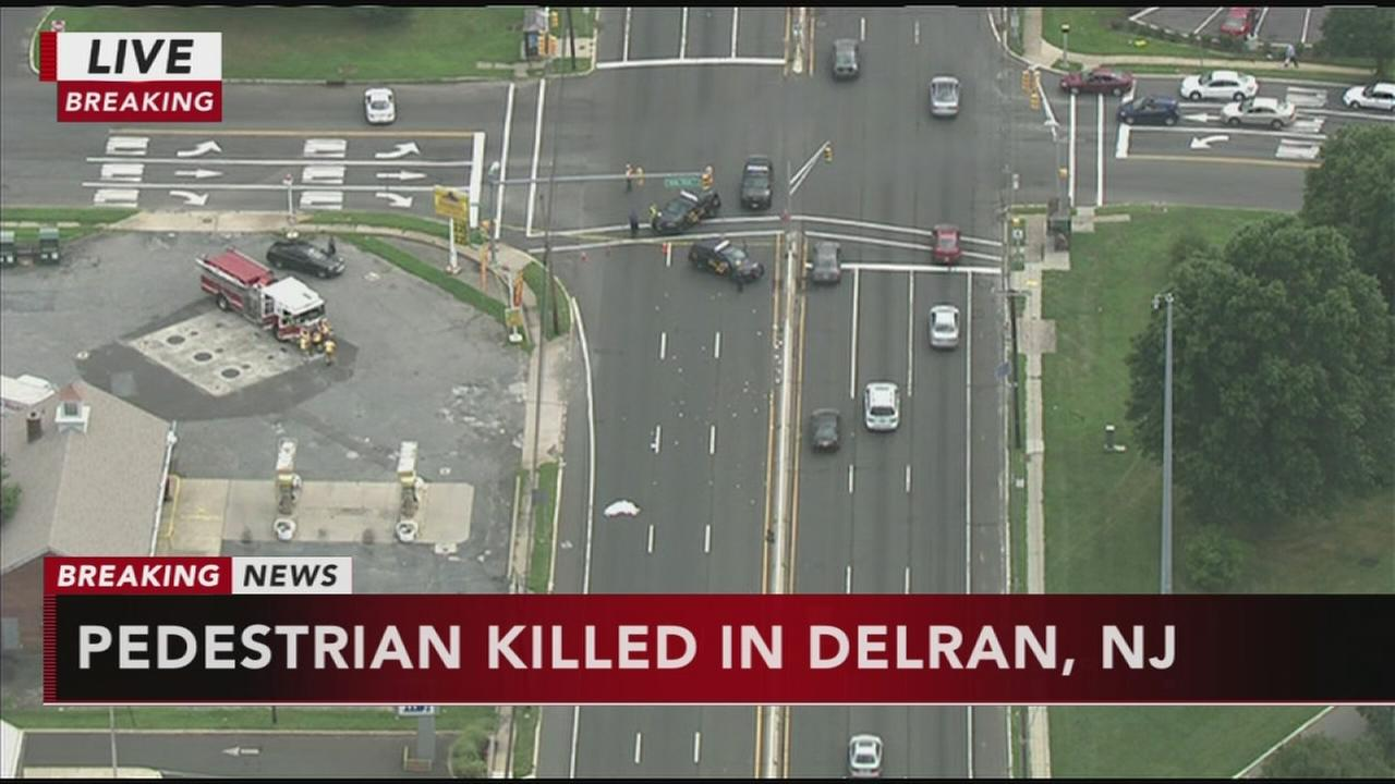 Pedestrian killed in Delran crash