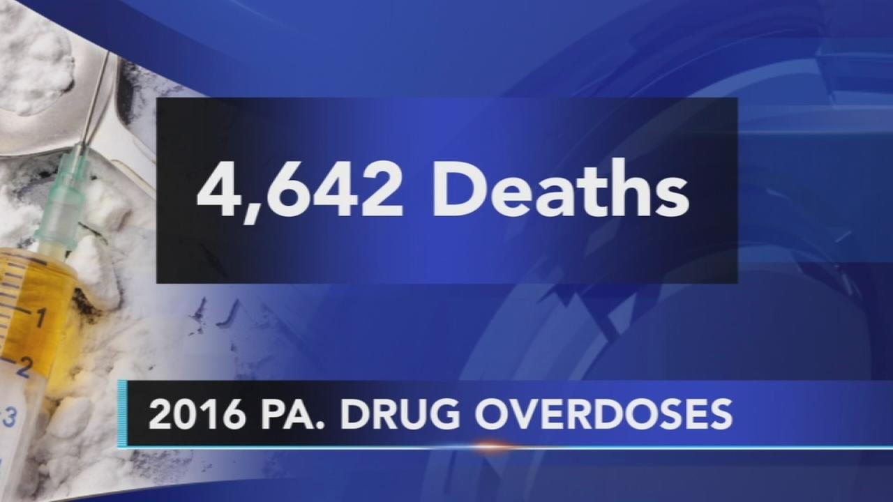 Pa. Report: Thousands died in drug overdoses in 2016