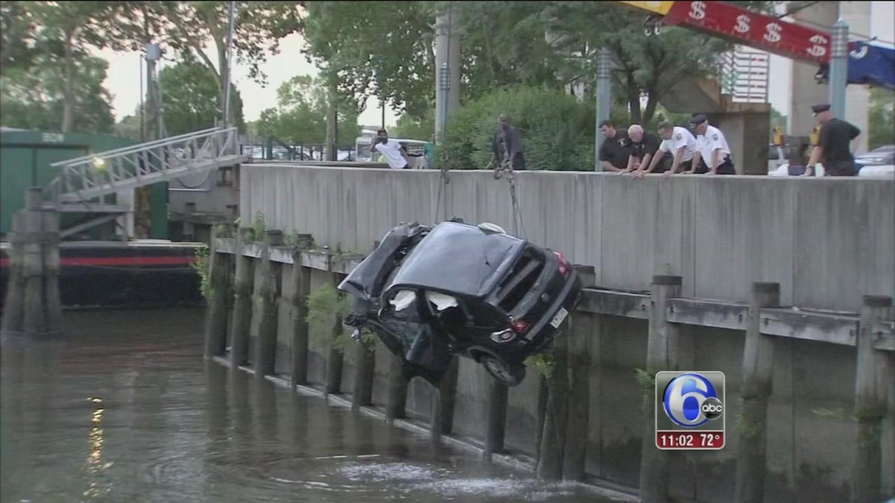VIDEO: Man dies after car goes into river