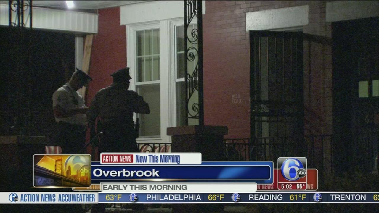 VIDEO: Man stabbed several times outside Overbrook home
