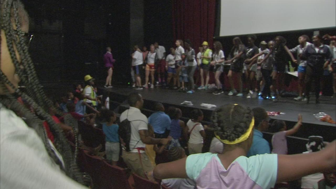 Kids  Dream Camp party held in North Philadelphia