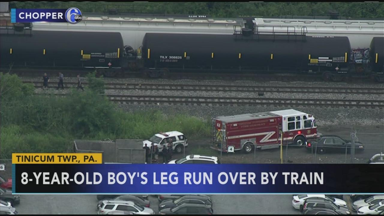 Boy, 8, hit by freight train in Delaware County