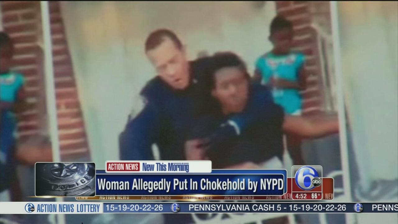 VIDEO: Woman allegedly put in chokehold by NYPD