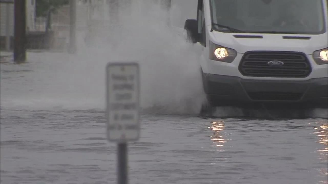 VIDEO: Streets flood after heavy rain at Jersey shore