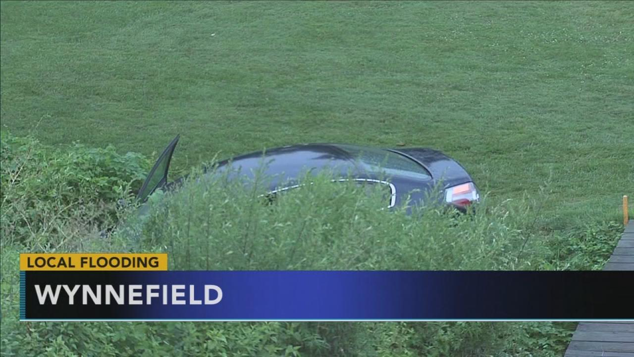 Driver rescued after car plunges into Philly creek