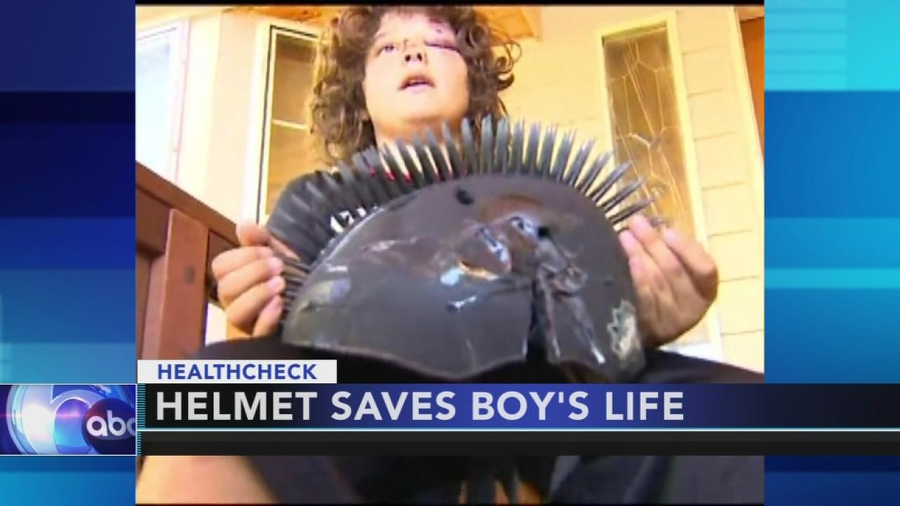 Helmet saves 10-year-old boys life after being hit by car