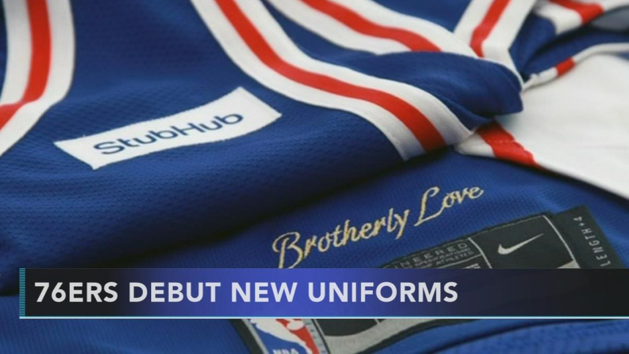 76ers debut new uniforms
