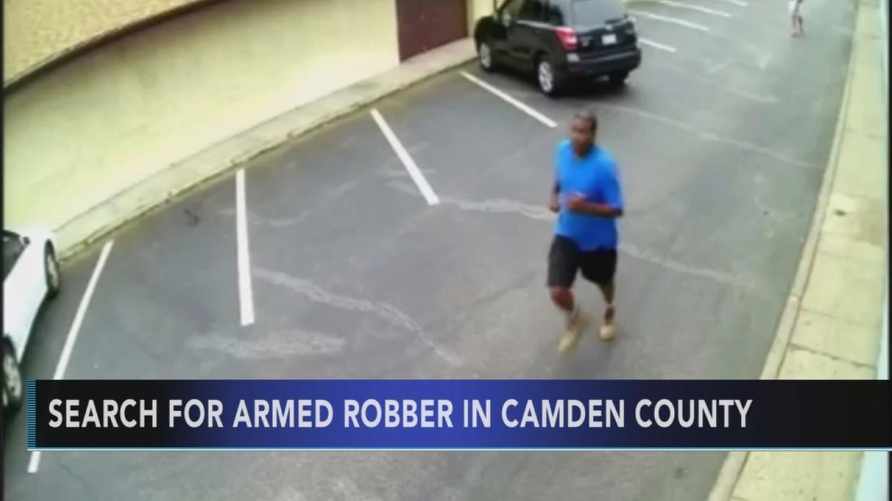 Armed robber sought for 3 Camden Co. robberies
