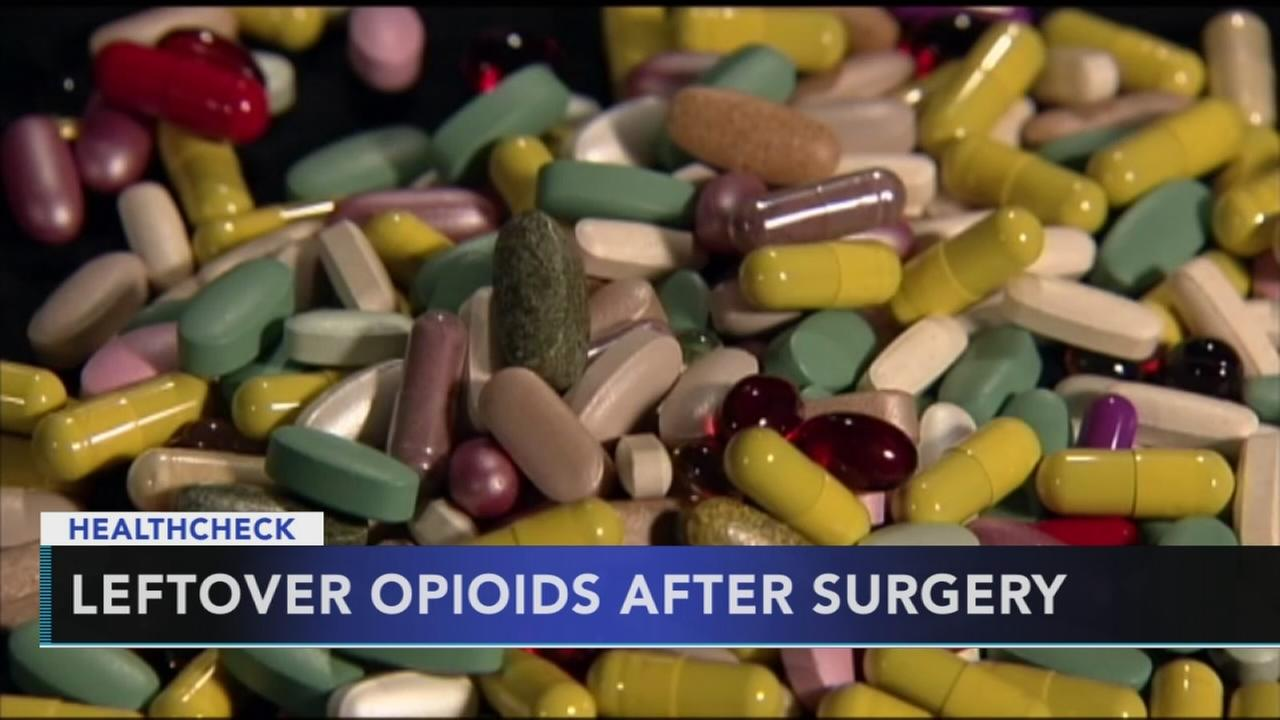 Leftover opioids after surgery